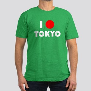 I Heart [Love] Tokyo Men's Fitted T-Shirt (dark)